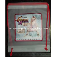 China Clear Drawstring Plastic Bags For Hannah Montana Forever DVD on sale