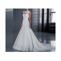 Wholesale Fabric Inside Lining Sleeveless Lace Long Tail Bridal Gown Backless Zipper Design from china suppliers