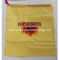 Buy cheap Yellow Waterproof Nylon Mesh Promotional Drawstring Bags / Personalized from wholesalers