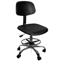 Buy cheap 560mm Adjustable PU Leather Cleanroom ESD Chair 400*400mm from wholesalers