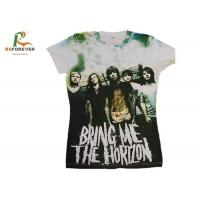 Wholesale Various Color Combed Cotton T Shirts , Customized Tee Shirts Screen Printing from china suppliers