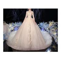 Wholesale Comfortable Elegant Lady Wedding Dress / Long Tail Lace Bridal Gown from china suppliers