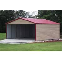 Wholesale outdoor customized size steel garage for sale/three Car Metal Frame garage