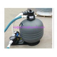 Top Mounted Plastic Swimming Pool Sand Filters For Ponds Filtration Deep Grey Color 106931303