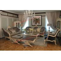 Wholesale French-type Furniture made by Wooden Carving Frame with Upholstery Sofa Set from china suppliers