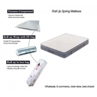 Wholesale Two sides available king size euro top roll up spring coil mattress from china suppliers