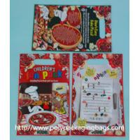 China Red Plastic Toy Packaging Poly Bags / Custom Printed 3 Side Seal Bag on sale
