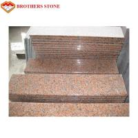 China CE G562 Maple Leaf Red Granite Flooring Natural Glossiness And Colour on sale