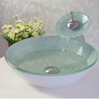Wholesale bathroom coloured glass basin from china suppliers