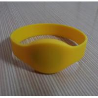 Wholesale Silicone rfid wrist band with Yellow color from china suppliers