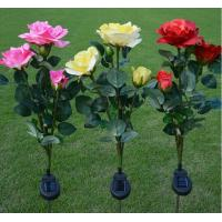 Outdoor Beautiful Flowers Decorative Solar Powered LED Garden Lights (Pink/Red