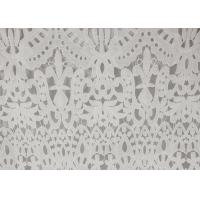 Wholesale 120cm Wide Polyester Water Soluble Lace Fabric , Eyelet Vintage Lace Fabric from china suppliers