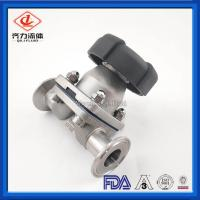 Wholesale Double Layer Tank Bottom Diaphragm Valves Welded 316L PTFE Add EPDM Seal from china suppliers
