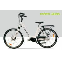 36V 7.8Ah Ladies Lithium Electric Bike 25Km/H White Middle Motor 700C Aluminum