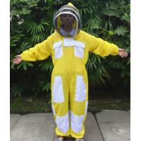 Wholesale Yellow Color New Type Three Layer Ventilated Beekeeping Protective Clothing from china suppliers