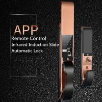 Wholesale APP Remote Controlled Fingerprint  Door Lock , Infrared Induction Slide Cover Lock from china suppliers