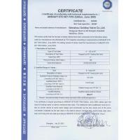 Wenzhou Goldtop Valve Co.LTD Certifications