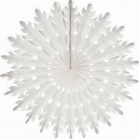 China Tissue Snowflake, Suitable for Christmas Hanging Decoration, Various Sizes are Available on sale