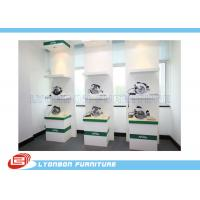 Buy cheap Custom Logo White Green Wooden Display Racks MDF For Tools / Shop Products from wholesalers