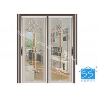 China Bevel Clear Sliding French Patio Doors , Safety French Glass Sliding Patio Doors on sale