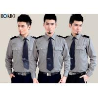 Wholesale Cotton Grey Security Guard Uniform With Long Sleeve Work Shirts from china suppliers