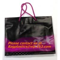 China prompt response printed soft loop handle ldpe polythene carry bags on sale