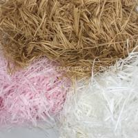 Wholesale Christmas Present Wrapping Accessories , White Pink Filling Raffia Coloured Shredded Paper Tissue from china suppliers