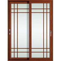 Wholesale White, red wood 2.0mm profile thickness aluminum sliding glass doors for study room from china suppliers