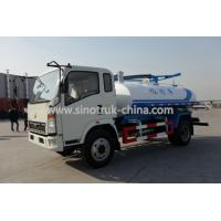 China HOWO Light Sewer Vacuum Truck 6 Wheels 10 Tons Loading 116hp Model SHMC5107GXW on sale