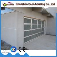 Customized sectional folding insulated glass garage door for Sectional glass garage door