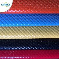 Wholesale Shoes Garment Quilted Leather Fabric , Cotton Quilting Fabric Smooth Surface from china suppliers