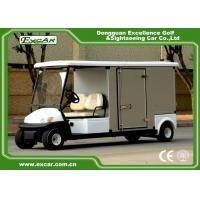 Wholesale EXCAR White Electric Utility Carts Food Cart With Two Seater E-KEY Deep Cup Holders with Customized Cargo from china suppliers