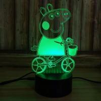 Buy cheap The Peppa pig Acrylic 3D LED  Night  Light for Gift , OEM Decoration LED Light in many colors from wholesalers