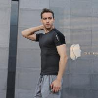 Wholesale Comfortable Running Wear / Custom Spandex Muscle Dry Fit Workout T - Shirt Men from china suppliers