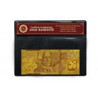 New AUD 50 24K Gold Banknote Plated With Pure 99.9% 24K Gold 152mm * 65mm Manufactures