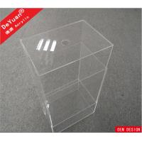 China Custom Size Clear Storage Box Perspex Shoe Box Logo Available OEM on sale