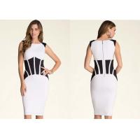 Quality Bodycon Back Zip Closure Classy Cocktail Dress Coated Patchwork for sale