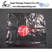 Wholesale Printed zipper Patch Handle Bags Plastic packing bag black polybag for Shopping from china suppliers