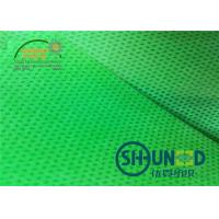 China Green Biodegradable Pp Spunbond Non Woven Fabric Breathable For Agriculture And Bag Usage on sale