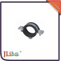 M7 Nut Metal Cast Iron Pipe Clamps High Temperature With Rubber Line 134048