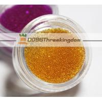Wholesale 0.8mm Champange Color Micro Glass Beads Can Be Customize For Nail Art from china suppliers
