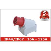 Single Phase 32A IP44 Industrial Plugs / Industrial Power Sockets