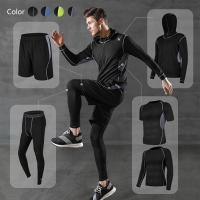 Buy cheap Fitness Men Cotton Polyester Running Wear Sports Training Suit from wholesalers