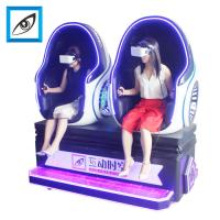 China new thrilling frp materail virtual reality double seats 360 degrees view egg chair 9d cinema on sale