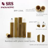 Wholesale SRS empty cosmetic 5ml 8ml 10ml 15ml real bamboo plastic roll on bottle from china suppliers