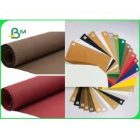 China Recyclable Eco friendly Red Washed Kraft Paper For Snack Bags 150cm * 100M on sale