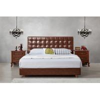 Wholesale Leather / Fabric Upholstered Headboard Bed for Apartment Bedroom interior fitment by Leisure Furniture with Wooden table from china suppliers