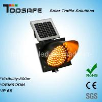 Wholesale Traffic Anti-High (low) Temperature 400mmsolar Powered Yellow Traffic Warning Flashing LED Light from china suppliers