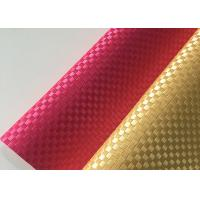 Wholesale Silk Weave PVC Leather Fabric Plain Colorful Environmental Protection from china suppliers