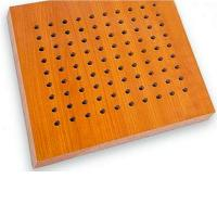 Wholesale Technology Wood Veneer Surface Acoustical Ceiling Wooden Perforated Acoustic Board from china suppliers